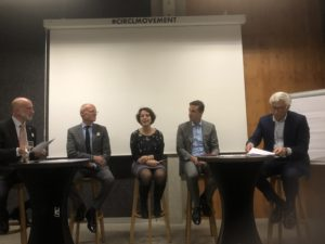 Representative from Workplace Pride, Aliander, Arcadis, Sustainalize and ABN-AMRO discussion the SDG LGBT Manifesto