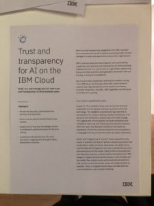 trusted and transparency in AI folder IBM