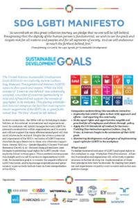 The SDG LGBTI Manifesto